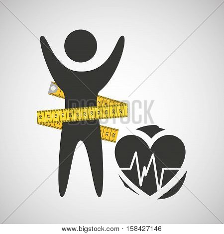 lose weight concept monitoring pulse vector illustration eps 10