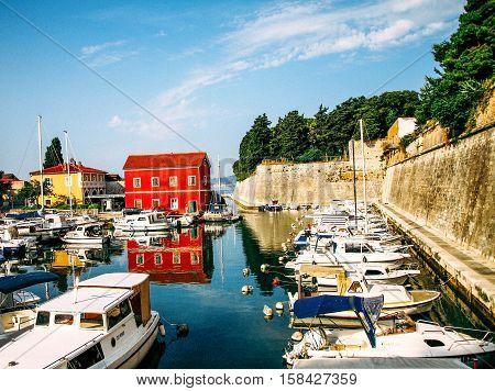 Zadar, hafen , Haus, Rot, Kroatien, Adria