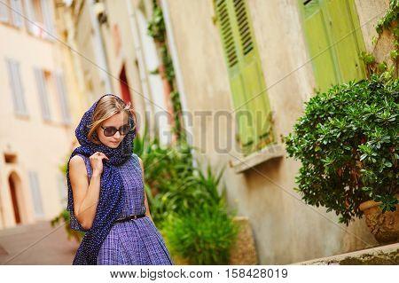 Elegant Woman In Cannes, At Le Suquet