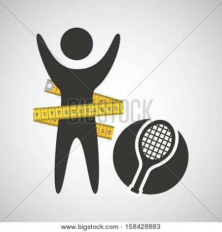 lose weight concept sport icon vector illustration eps 10