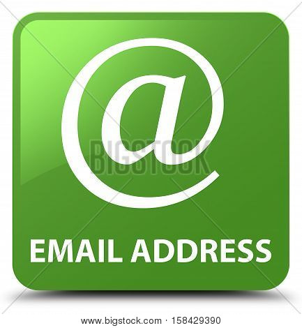 Email address (address icon) soft green square button