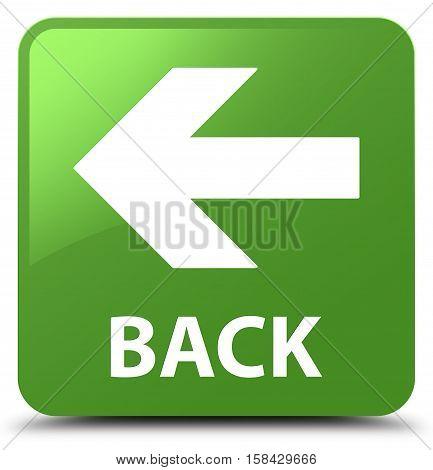Back (arrow icon) soft green square button