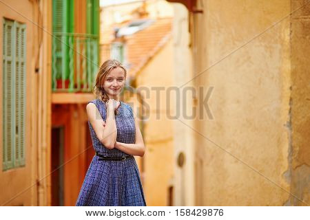 Girl In Cannes On Le Suquet Hill