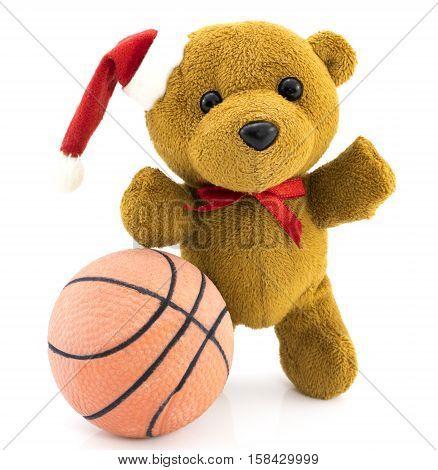 Teddy Bear With Basketball Ball/christmas/teddy