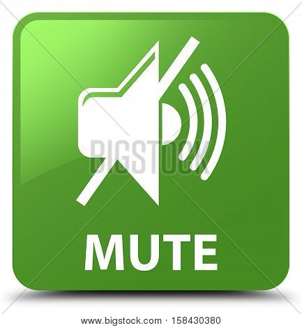 Mute (mute icon) on soft green square button