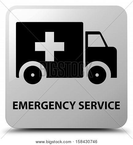 Emergency service (ambulance icon) white square button