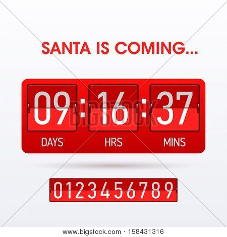 Santa is coming Christmas countdown timer