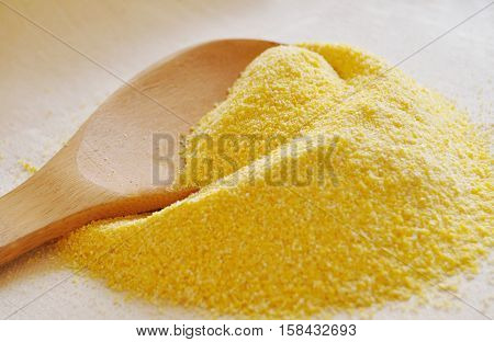 Heap Of Organic Corn Meal