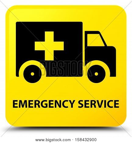 Emergency service (ambulance icon) yellow square button
