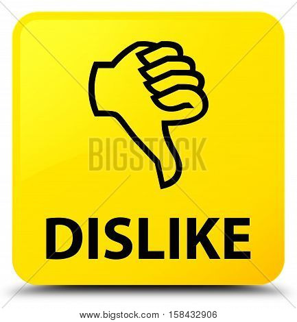 Dislike (thumbs down icon) yellow square button