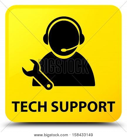 Tech support (call center icon) yellow square button