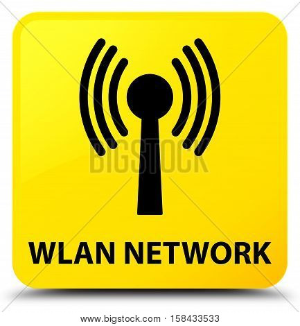 Wlan network (signal icon) on yellow square button