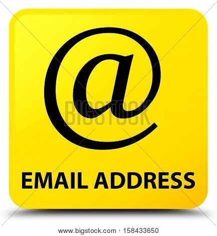 Email address (address icon) yellow square button