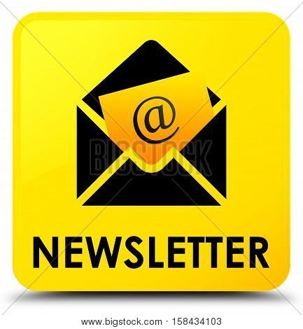 Newsletter (address icon) on yellow square button