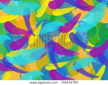 Abstract watercolor background. Abstract watercolor background with colorful splotches.