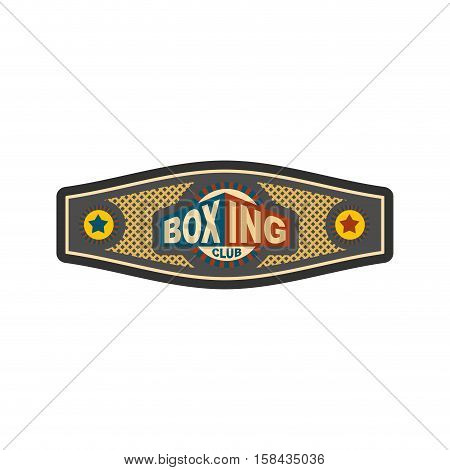 Boxing Championship Belt. Award For Boxer. Sport Victory
