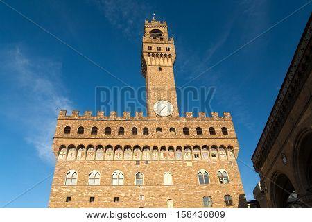 Palazzo Vecchio or Palazzo della Signoria in Florence, Italy.