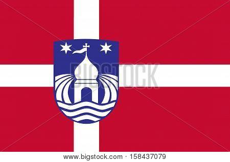 Flag of Lemvig in Central Jutland Region in Denmark