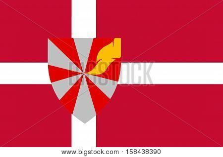 Flag of Ikast-Brande in Central Jutland Region in Denmark