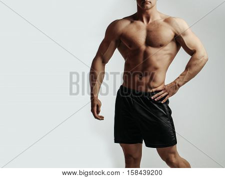 Sexy Muscular Man Athlete