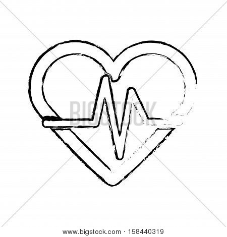 medical heart cardiology icon vector illustration graphic design