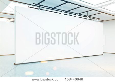 Empty Exhibition Hall Wall, Toned