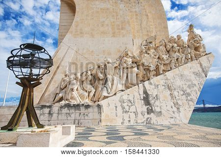 Monument to the Discoveries Lisbon Portugal. West side