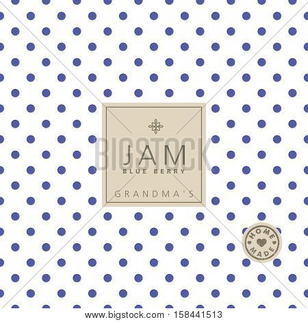 Jam label. Swatch pattern included.
