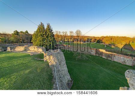 View from Farnham Castle over Farnham Park