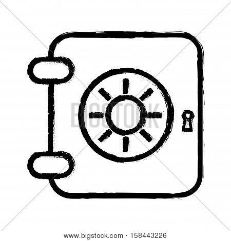 strongbox deposit box icon vector illustration graphic design