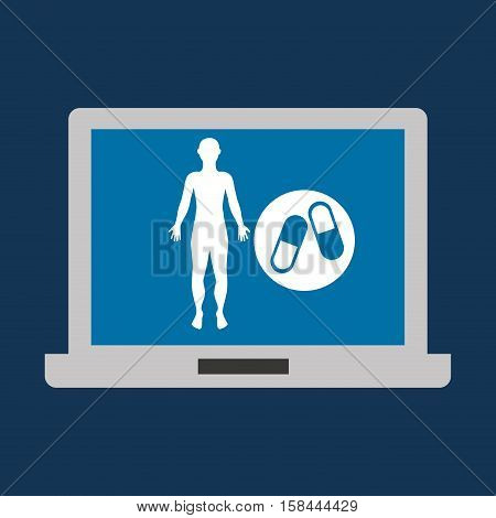 silhouette man fitness medicine sport vector illustration eps 10