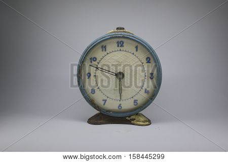 old clock, since the Soviet Union, for steampunk, white background