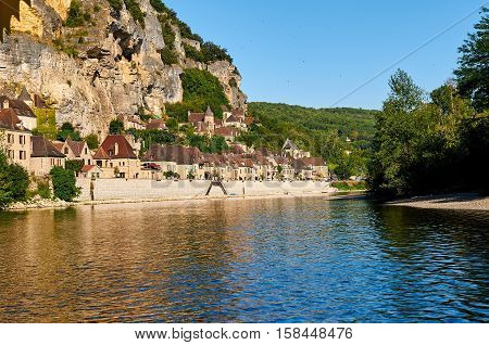 La Roque Gageac is an ancient village by the Dordogne river in Dordogne-Perigord Aquitaine France