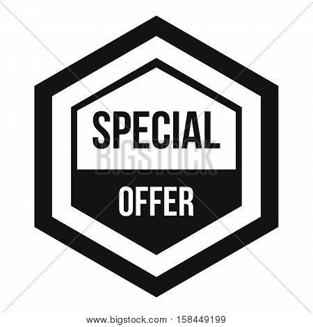 Special offer pentagon icon. Simple illustration of special offer pentagon vector icon for web