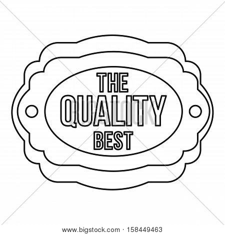 The best quality icon. Outline illustration of the best quality vector icon for web