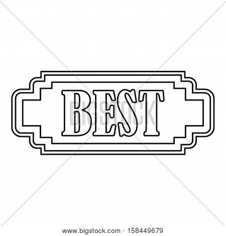 Best rectangle label icon. Outline illustration of best rectangle label vector icon for web
