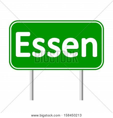 Essen road sign isolated on white background.