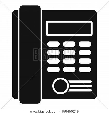 Office business keypad phone icon. Simple illustration of office business keypad phone vector icon for web