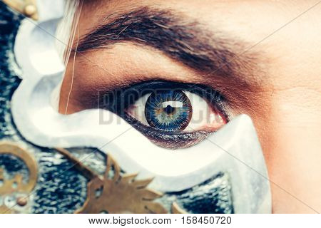 Amazed Look Of Male Eye