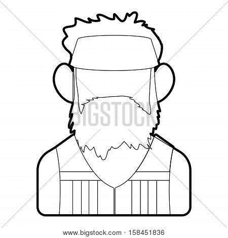 Programmer icon. Outline illustration of programmer vector icon for web design