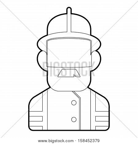 Builder icon. Outline illustration of builder vector icon for web design
