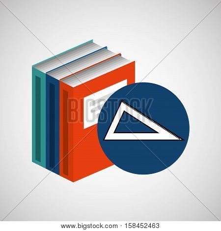 library books school acessory geometry vector illustration eps 1