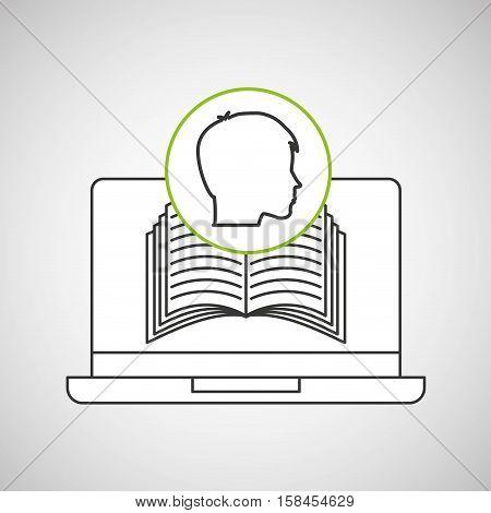 learn online book student head design vector illustration eps 10