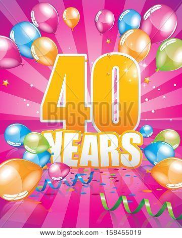 40 Years Birthday Card