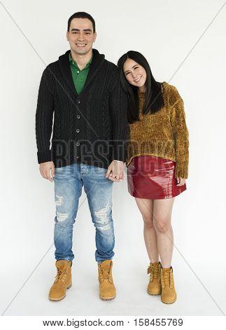 Lover Couple Men Women Hold Hands Concept
