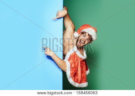 Christmas Sexy Muscular Santa Man