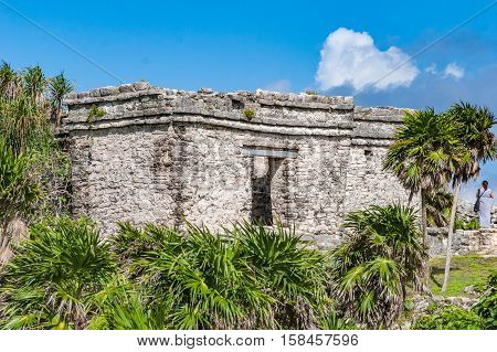 Ancient Ruins at Tulum Mexico Abandoned Building