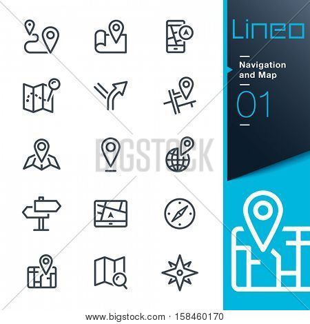 Lineo - Navigation and Map line icons