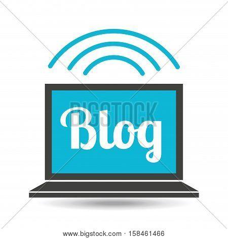 social media laptop blog web vector illustration eps 10