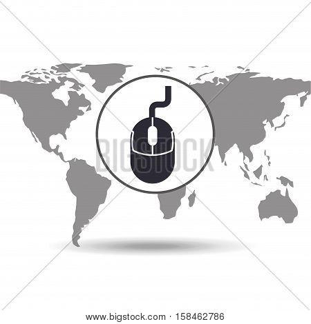 technology social media world map vector illustration eps 10